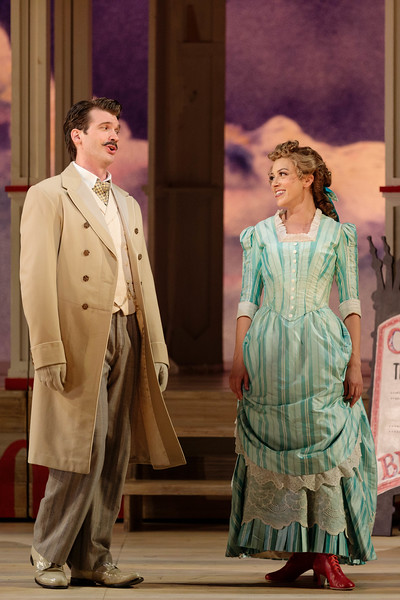 "Michael Adams as Gaylord Ravenal and Lauren Snouffer as Magnolia Hawks in The Glimmerglass Festival's 2019 production of ""Show Boat."" Photo Credit: Karli Cadel/The Glimmerglass Festival"
