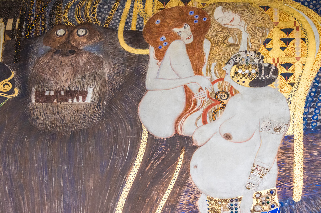 Detail from Klimt's Beethoven Frieze