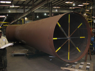 78 inch duct work for a sulphuric acid plant