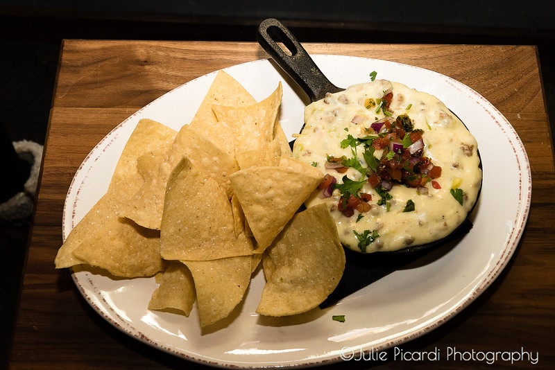 Comfort food...nachos and queso dip.