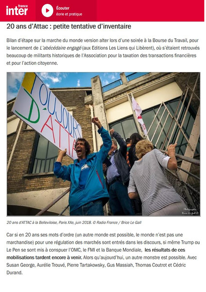 France Inter Internet , septembre 2018.  https://www.franceinter.fr/emissions/comme-un-bruit-qui-court/comme-un-bruit-qui-court-22-septembre-2018