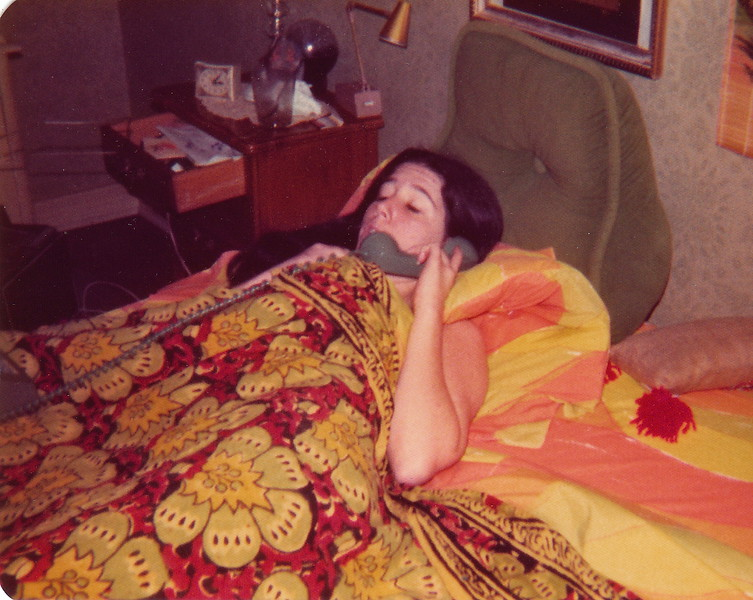 Jane In Bed on Phone Circa 1970 .jpg