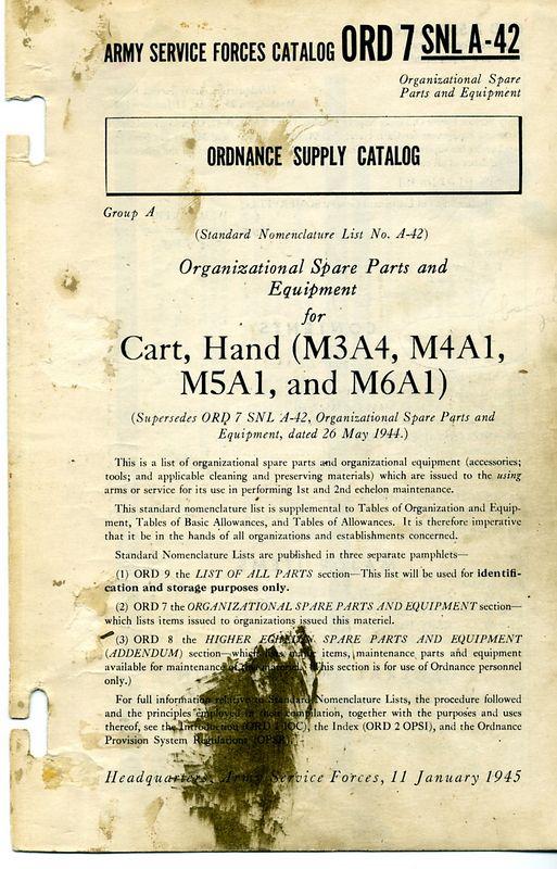 M3A4 HAND CART SNL'S