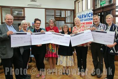Harwich Secret Gardens Cheque Presentations