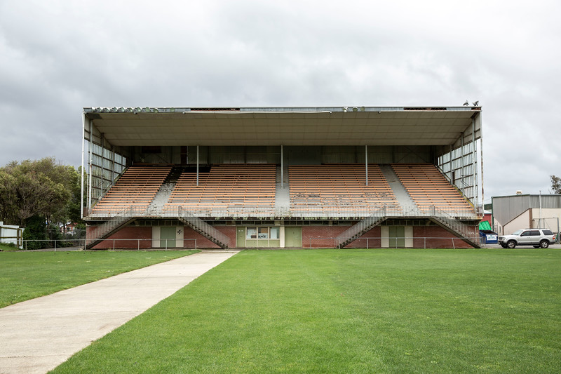 Image of the grandstand at Fraser Park, Lower Hutt, Wellington, New Zealand,  home to the Avalon Rugby Football Club. Photo taken on 24 September 2020.