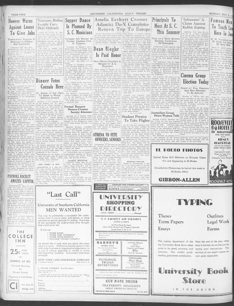 Daily Trojan, Vol. 23, No. 151, May 23, 1932