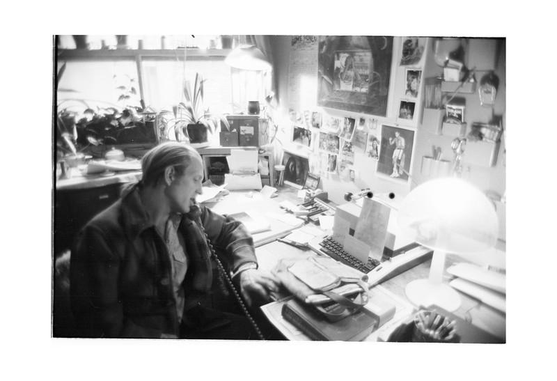1977 MJ Office on Greenview Date? MJ at work.jpg