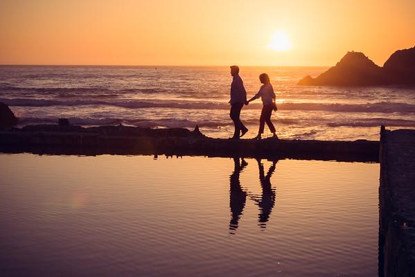 Sarah & Cameron's Engagement Sutro Baths San Francisco