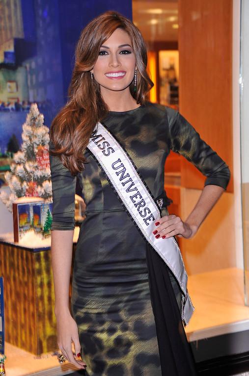 . Miss. Universe Gabriela Isler arrives during 81st Annual Rockefeller Center Christmas Tree Lighting Ceremony at Rockefeller Center on December 4, 2013 in New York City.  (Photo by Stephen Lovekin/Getty Images)