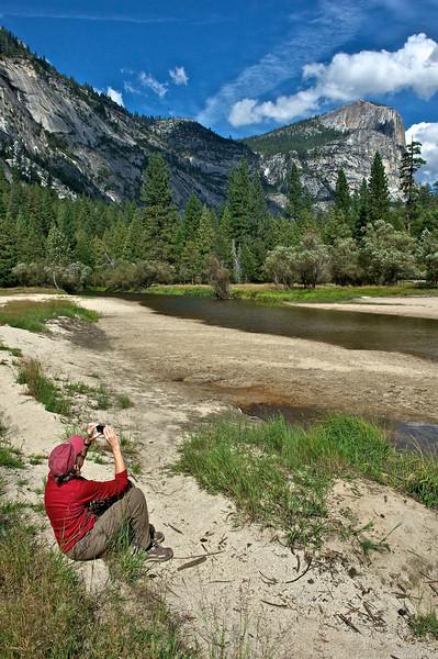 Jenny at Mirror Lake, Yosemite National Park, California