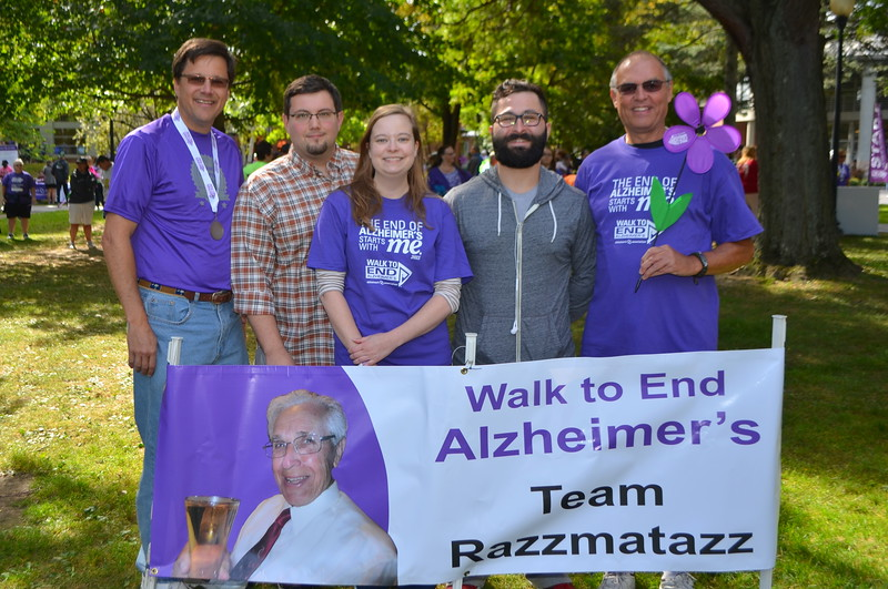 Ed's coworkers from KAPL joined in on the walk too.  Starting on the left is Ed, Edwin, Pamela, Kyle and Laurence.