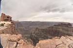 Grand Canyon Skywalk, gesehen von einem 10,5 mm Fish Eye