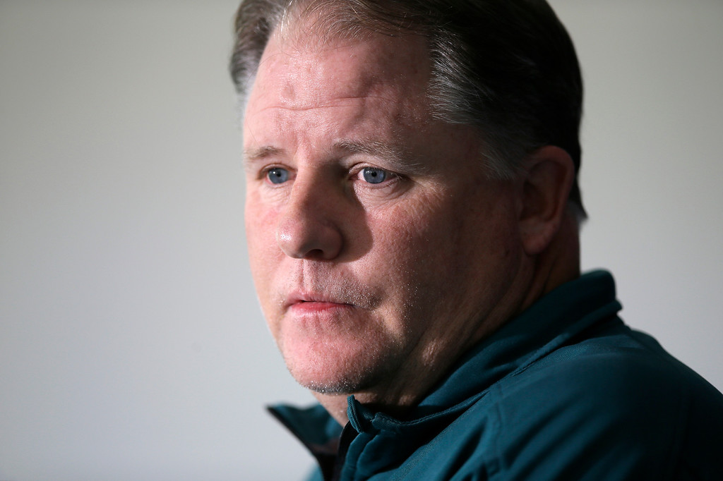 . <b>Chip Kelly</b> <br />Head coach, Philadelphia Eagles; former head coach, Oregon  (Sept. 30, 2013)  (AP Photo/Matt Slocum)