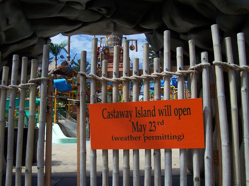 Castaway Island was closed.