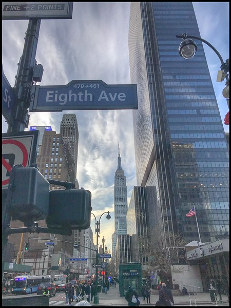 Empire State Building from Eight Avenue