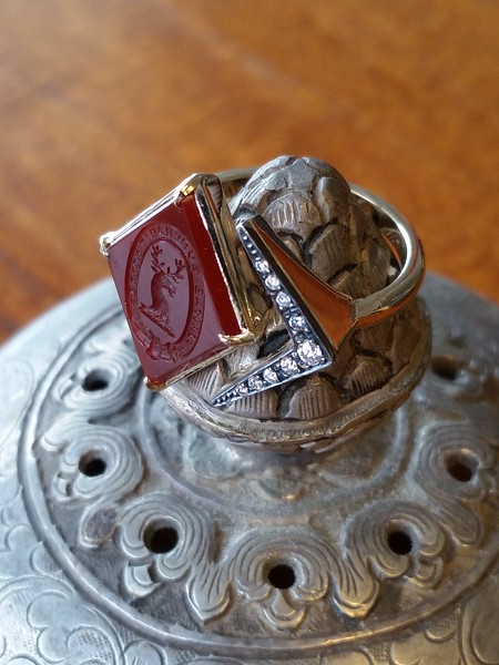 """Truth"" Carnelian Ring, by Seal & Scribe"
