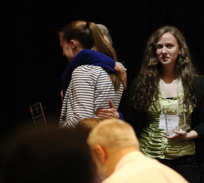 Kate Oliphant hugging Mentor Dr. Carolyn Billings