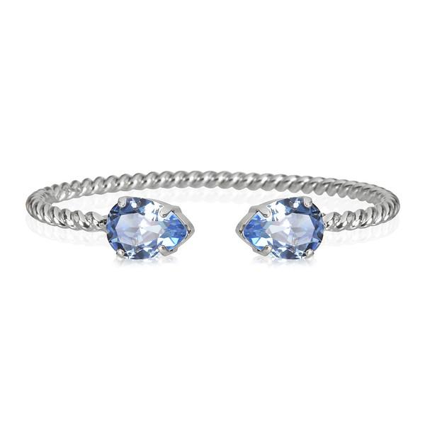 Mini Drop Bracelet / Light Sapphire Rhodium