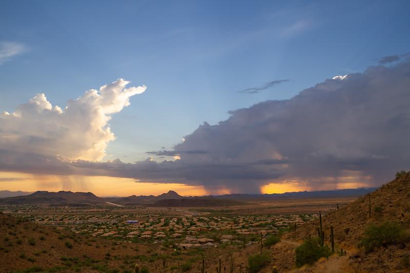 A Monsoon Storm over Arizona