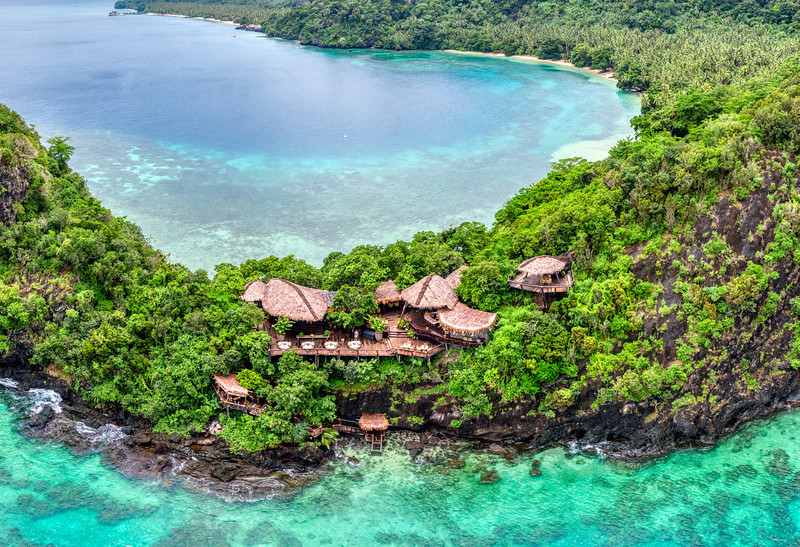 Floating over Laucala Island
