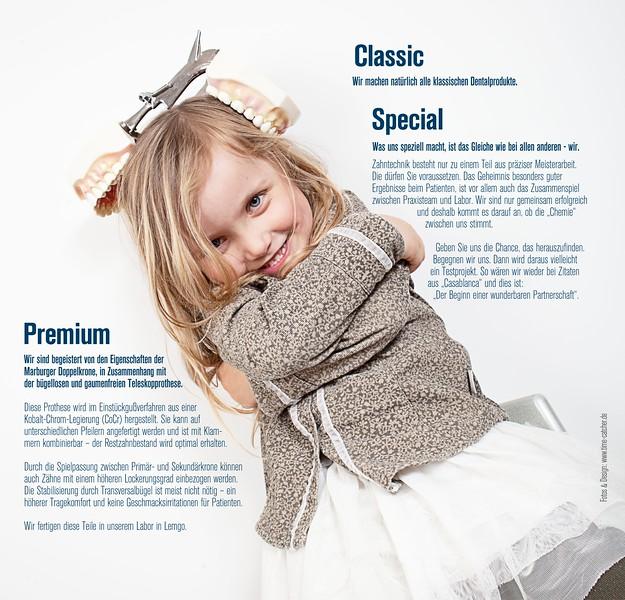 Printdesign Foto/Text/Grafk für ein Zahntechniklabor
