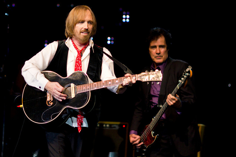 Tom Petty and Ron Blair (bassist) of the Heartbreakers performing at St. Pete Times Forum, September 16, 2010