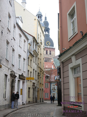 Narrow side streets in Riga's Old City