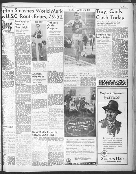 Daily Trojan, Vol. 28, No. 113, April 12, 1937