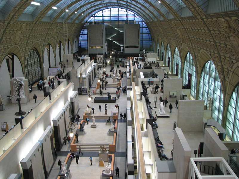 Inside the Musee d'Orsay.  It used to be an old train station.