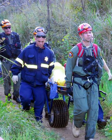 Escondido Falls Rescue (LACoFD and Malibu SAR)