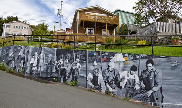 mural of St. John's history