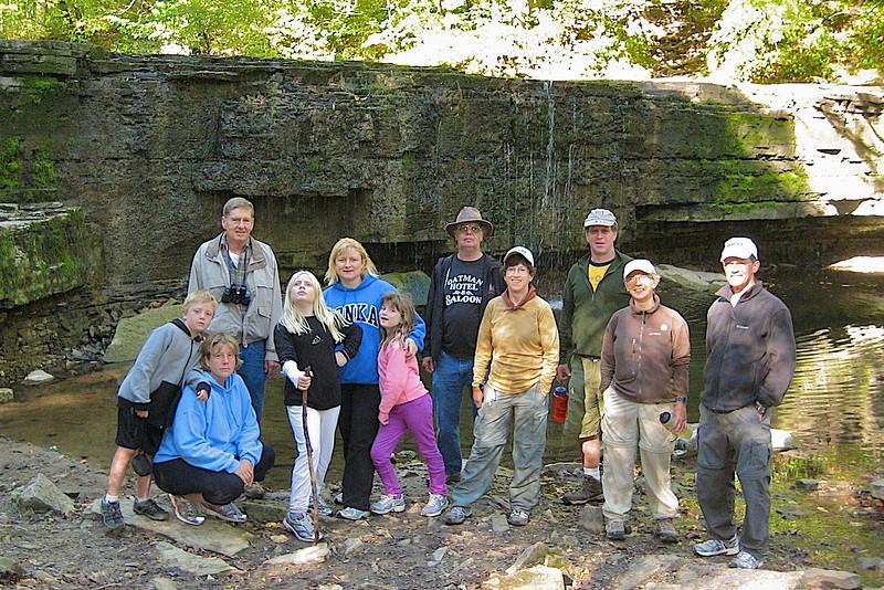 The hikers at Hidden Falls.