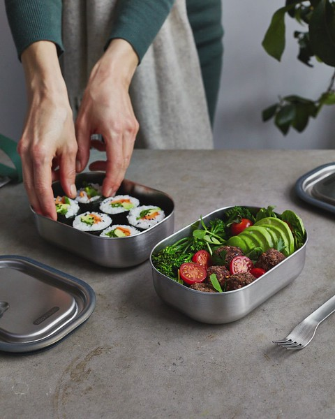 Stainless Steel Lunch Box Black Blum