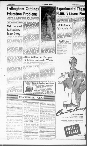 Summer News, Vol. 3, No. 16, July 28, 1948
