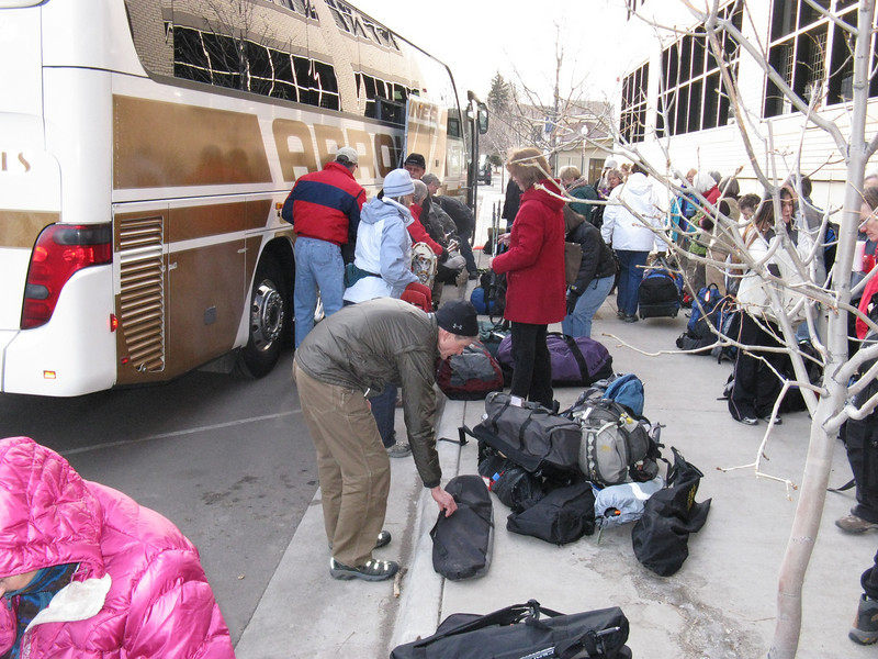 OK - Wed morning, Feb 3rd, and our CMC (Colorado Mtn Club) trip begins in Golden, CO. Including the two leaders, we number 53.