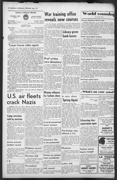 The Trojan, Vol. 35, No. 104, April 12, 1944