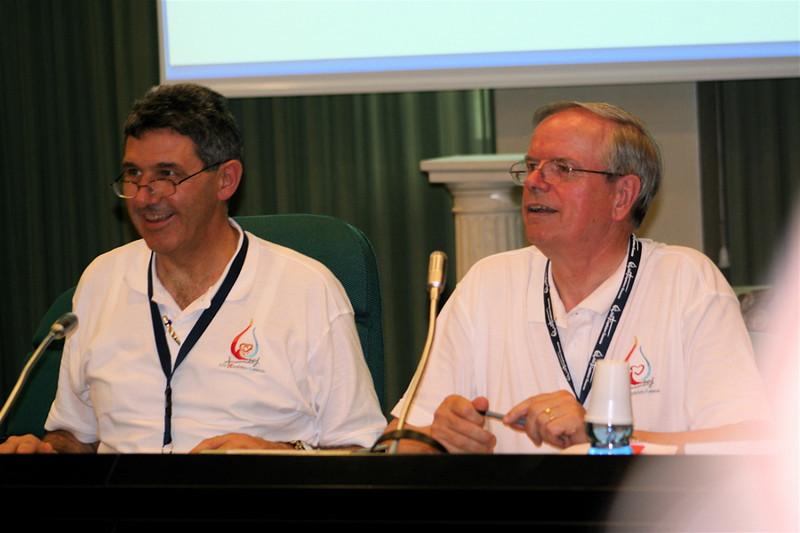Synthesis Committee members Frs. Marcello Matté and John van den Hengel