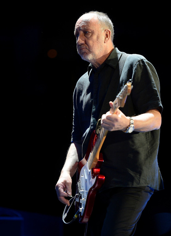 . DENVER, CO. - FEBRUARY 12: Pete Townshend of The Who performs during their Quadrophenia and More tour stop February 12, 2013 at the Pepsi Center in Denver.  (Photo By John Leyba/The Denver Post)