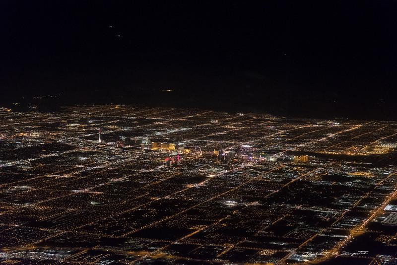 Las Vegas on approach