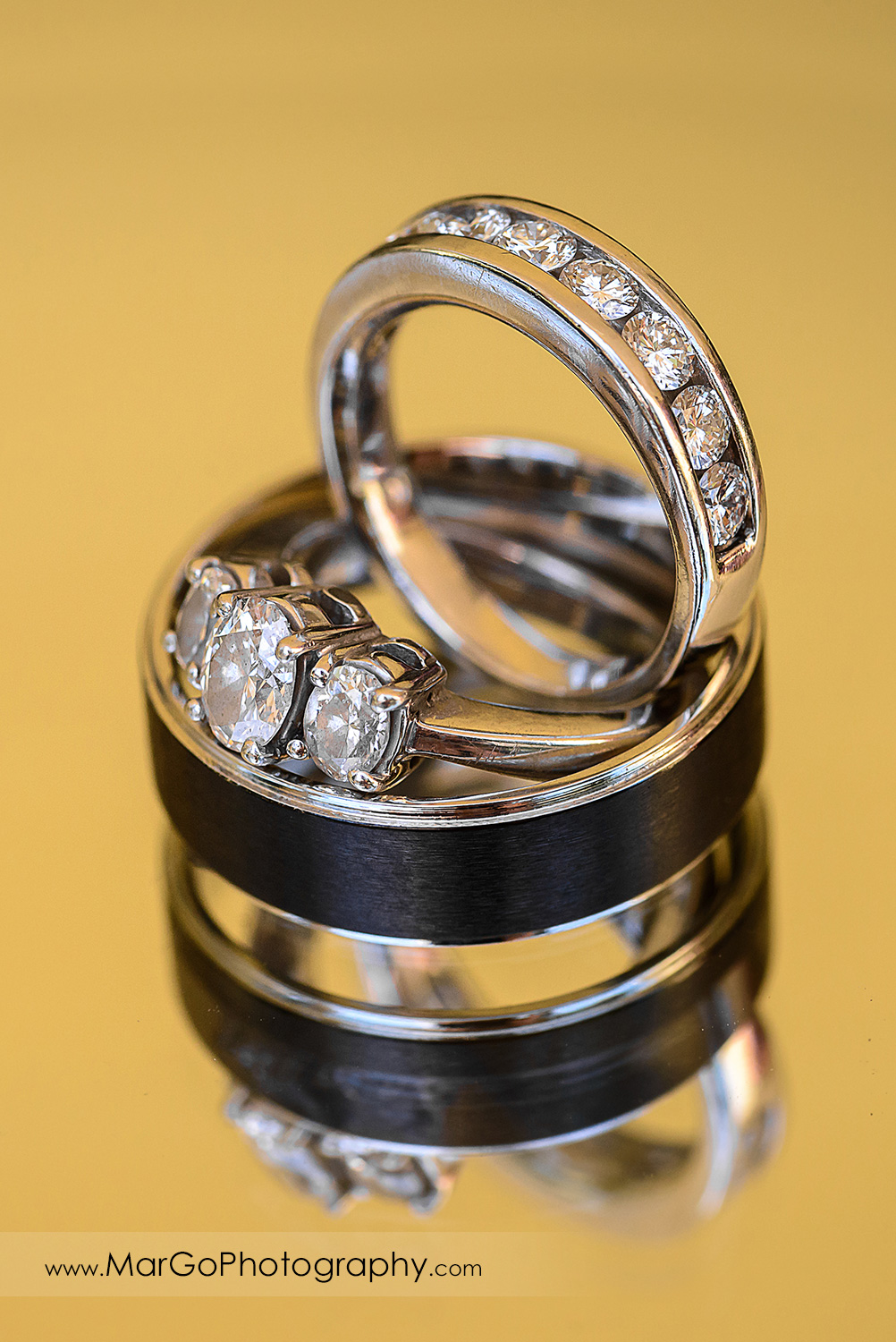 wedding rings at Picchetti Winery in Cupertino