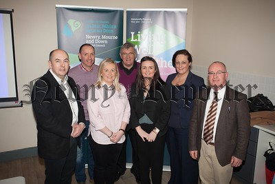 Suzanne Rice is pictured with Councillors, Jarlath Tinnelly, Mickey Ruane, Sinead Ennis, Michael Carr, Gillian Fitzpatrick and Declan McAteer. R1610011