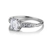 1.19ct Art Deco Carre Cut Diamond Solitaire 1