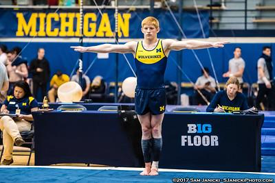 3-25-17 Michigan Men's Gymnastics Vs UIC