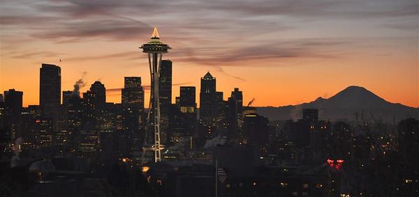 Seattle Sunrise - December