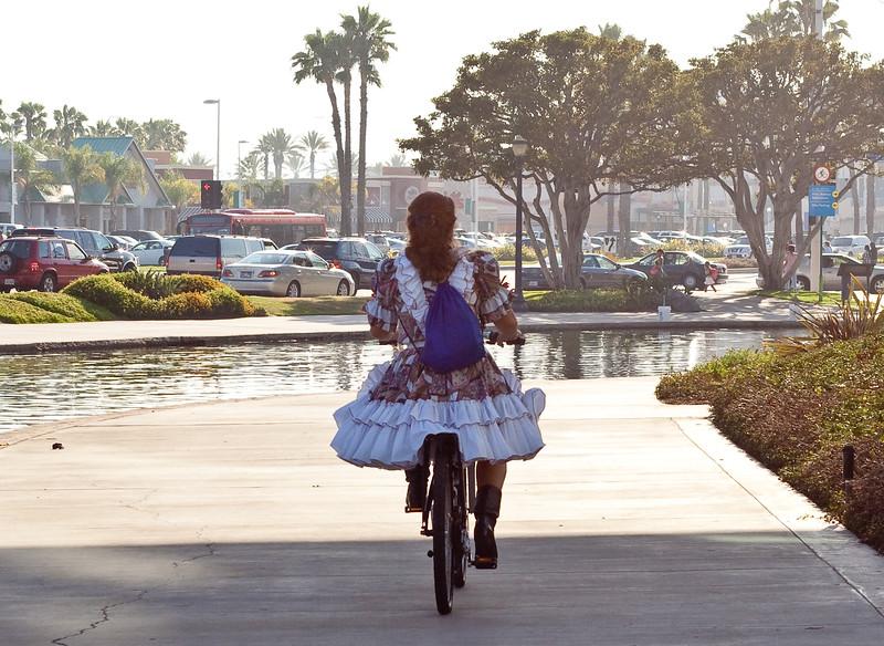 Square Dancer on Bike