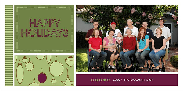 4 x 8 Flat Holiday Cards