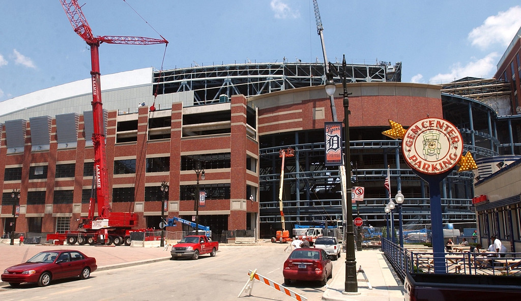 . The new Ford Field, future site of the NFL Detroit Lions in downtown Detroit.