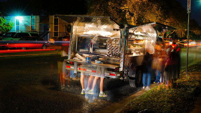 Mobile Loaves and Fishes truck on Galewood Drive