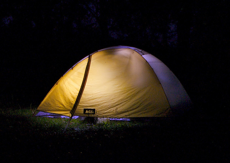 You got to like tent camping.