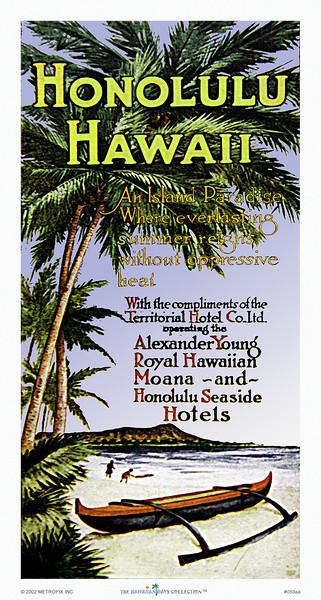 050: Honolulu Hawaii - Travel Brochure cover -- ca 1936.